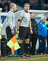 Referee Crawford Allan consults with his assistant before sending off Raith's Allan Walker ...
