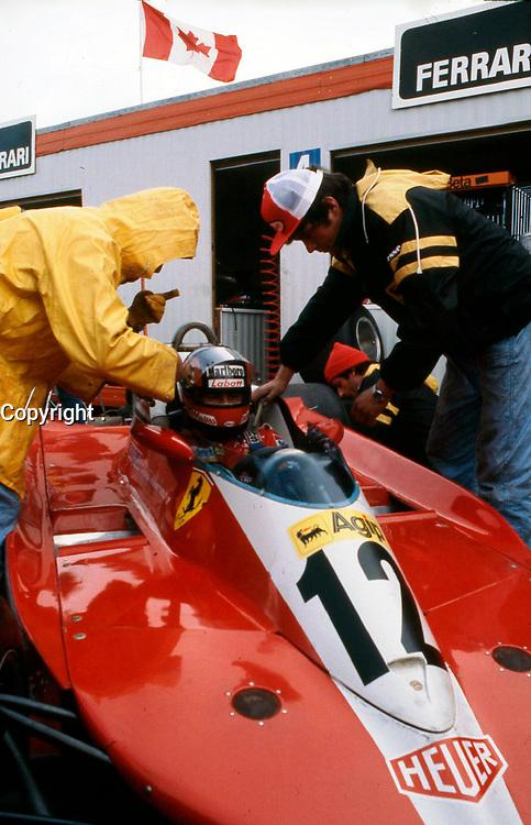 Gilles Villeneuve au volant de sa Ferrari