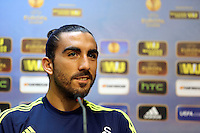 Valencia, Spain. Wednesday 18 September 2013<br /> Pictured: Chico Flores.<br /> Re: Swansea City FC press conference ahead of their UEFA Europa League game against Valencia C.F. at the Estadio Mestalla, Spain,
