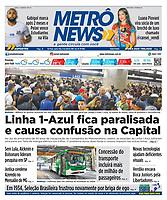 25.04.2018 - Linha 1-Azul fica paralisada e causa confusão na Capital. (Foto: Fábio Vieira/FotoRua)