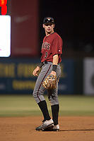 AZL Diamondbacks shortstop Alex King (9) during an Arizona League game against the AZL Angels at Tempe Diablo Stadium on June 27, 2018 in Tempe, Arizona. The AZL Angels defeated the AZL Diamondbacks 5-3. (Zachary Lucy/Four Seam Images)