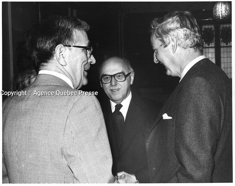 Le Maire de Montreal Jean Drapeau, <br /> le 17 avril 1978<br /> durant la campagne pour sa ré-élection, <br /> <br /> PHOTO : JJ Raudsepp  - Agence Quebec presse