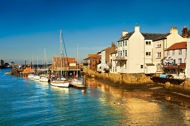Whitby harbour. North Yorkshire, England