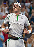 September  2, 2018:  John Isner (USA) defeated Milos Raonic (CAN)  at the US Open being played at Billy Jean King Ntional Tennis Center in Flushing, Queens, New York.