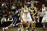 Klay Thompson (#1), Washington State University freshman guard, plays tough defense during the Cougars game against Montana State on December 13, 2008, at Key Arena in Seattle, Washington.  Washington State won the game 70-51.