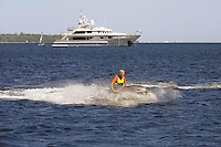 - France, yachts off the coast of French Riviera<br /> <br /> - Francia, yachts al largo della Costa Azzurra