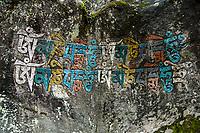 Mani Stone, Khumbu, Nepal