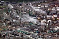 aerial photograph of the ExxonMobil refinery, Baton Rouge, Louisiana