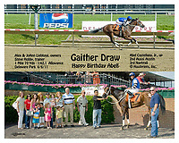 Gaither Draw winning at Delaware Park on 6/6/11