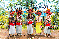 Women in traditional dress - Highlands, Papua New Guinea