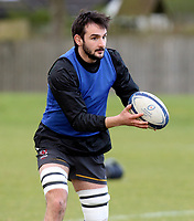 16th February 2021;  Greg Jones during an Ulster Rugby squad pitch session held at Pirrie Park, Belfast, Northern Ireland. Photo by John Dickson/Dicksondigital
