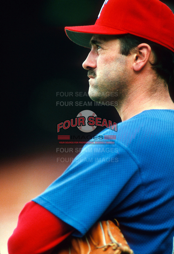 Will Clark of the Texas Rangers during a game at Dodger Stadium in Los Angeles, California during the 1997 season.(Larry Goren/Four Seam Images)