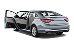 Car images close up view of a 2015 Hyundai Sonata 2.4 Auto Limited 4 Door Sedan doors