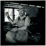 JULY 1995    -  ALICE SPRINGS , Australia   -   A blacksmith at the Old Telegraph station..