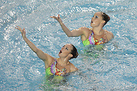23 February 2008: Sara Lowe and Courtenay Stewart during Stanford's 101-62.5 victory over Arizona at the Avery Aquatic Center in Stanford, CA.