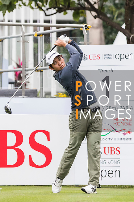 Sam Chien of the United States tees off during the day four of UBS Hong Kong Open 2017 at the Hong Kong Golf Club on 26 November 2017, in Hong Kong, Hong Kong. Photo by Yu Chun Christopher Wong / Power Sport Images