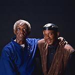 Art Blakey and Ralph Peterson, 1989 : Portrait of Art Blakey and Ralph Peterson, Mt.Fuji Jazz Fes '89, Japan