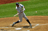 17 June 2012: New York Yankees outfielder Andruw Jones in action against the Washington Nationals at Nationals Park in Washington, DC. The Yankees defeated the Nationals 4-1 to sweep their 3-game series. Mandatory Credit: Ed Wolfstein Photo