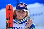 FIS Alpine World Ski Championships 2021 Cortina . Cortina d'Ampezzo, Italy on February 18, 2021. Women's Giant Slalom,  Mikaela Shiffrin (USA) shows her medal