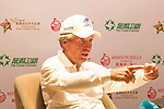 Gary Player gives a press conference on the sidelines of the World Celebrity Pro-Am 2016 Mission Hills China Golf Tournament on 22 October 2016, in Haikou, China. Photo by Marcio Machado / Power Sport Images
