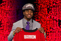 The seventh overall pick defensive back Mark Baron (Alabama) during the first round of the 2012 NFL Draft at Radio City Music Hall in New York, NY, on April 26, 2012.