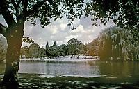 The Lake in Regents Park, London. John Nash, 1816.