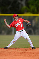 Ohio State Buckeyes second baseman Ryan Cypret #2 throws to first during a game against the South Dakota State Jackrabbits at North Charlotte Regional Park on February 23, 2013 in Port Charlotte, Florida.  Ohio State defeated South Dakota State 5-2.  (Mike Janes/Four Seam Images)