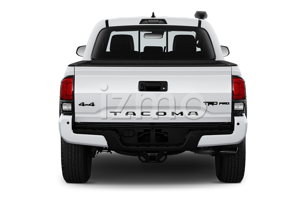 Straight rear view of 2020 Toyota Tacoma TRD-Pro 4 Door Pick-up Rear View  stock images