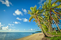Amuri Beach at Aitutaki Island, Cook Islands.