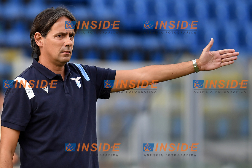 Simone Inzaghi coach of SS Lazio during the friendly football match between Frosinone calcio and SS Lazio at Benito Stirpe stadium in Frosinone (Italy), September 12th, 2020. SS Lazio won 1-0 over Frosinone. Photo Andrea Staccioli / Insidefoto