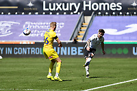 Ryan Manning of Swansea City in action during the Sky Bet Championship match Swansea City and Wycombe Wanderers at Liberty Stadium in Swansea, Wales. Sporting stadiums around the UK remain under strict restrictions due to the Coronavirus Pandemic as Government social distancing laws prohibit fans inside venues resulting in games being played behind closed doors.<br /> Saturday 17 April 2021