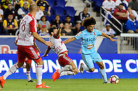 Harrison, NJ - Thursday Sept. 15, 2016: Felipe Martins, Rodrigo Rivera during a CONCACAF Champions League match between the New York Red Bulls and Alianza FC at Red Bull Arena.