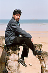 Luis Sepulveda, chilian author at book fair in saint Malo, France in 2001.