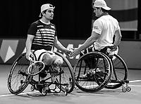 Rotterdam, The Netherlands, 5 march  2021, ABNAMRO World Tennis Tournament, Ahoy,  Quarter final wheelchair: Martin de la Puente (ESP) / Gustavo Fernandez (ARG). <br /> Photo: www.tennisimages.com/henkkoster