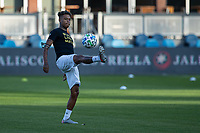 SAN JOSE, CA - SEPTEMBER 16: Andy Polo #7 of the Portland Timbers warms up during a game between Portland Timbers and San Jose Earthquakes at Earthquakes Stadium on September 16, 2020 in San Jose, California.