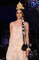 Neelam Gill on the catwalk<br /> at the Ashish catwalk show as part of London Fashion Week SS17, Brewer Street Car Park, Soho London<br /> <br /> <br /> ©Ash Knotek  D3155  19/09/2016