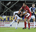 14/09/2009  Copyright  Pic : James Stewart.sct_jspa12_falkirk_v_aberdeen  .ANDREW CONSIDINE AND KJARTAN FINNBOGASON CHALLENGE FOR THE BALL....James Stewart Photography 19 Carronlea Drive, Falkirk. FK2 8DN      Vat Reg No. 607 6932 25.Telephone      : +44 (0)1324 570291 .Mobile              : +44 (0)7721 416997.E-mail  :  jim@jspa.co.uk.If you require further information then contact Jim Stewart on any of the numbers above.........