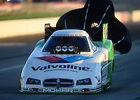 Sept 8, 2012; Clermont, IN, USA: NHRA funny car driver Jack Beckman during qualifying for the US Nationals at Lucas Oil Raceway. Mandatory Credit: Mark J. Rebilas-