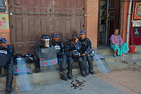 Bouddhanath, Kathmandu - The largest stupa in Nepal the area is also known as little Tibet, Nepalese Riot Police