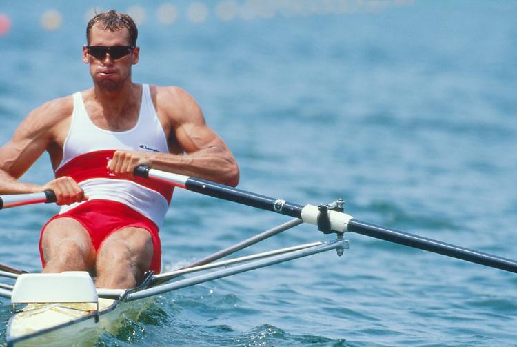 Rowing, Men's single sculls, 1996 Olympics, Gainesville, Georgia, USA, Rowing Canada, Canadian Men's single, Derek Porter, Silver medal, .