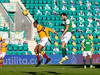 24th April 2021; Easter Road, Edinburgh, Scotland; Scottish Cup fourth round, Hibernian versus Motherwell; Christian Doidge of Hibernian scores the opening goal