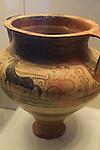 Israel, Jerusalem, a vase made in Mycenae found in Tel Dan, 14th century, at the Israel Museum