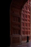 Muslim Women at the Mosque at The Taj Mahal