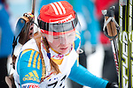 MARTELL-VAL MARTELLO, ITALY - FEBRUARY 02: TSESELSKA Kateryna (UKR) after the Women 7.5 km Sprint at the IBU Cup Biathlon 6 on February 02, 2013 in Martell-Val Martello, Italy. (Photo by Dirk Markgraf)