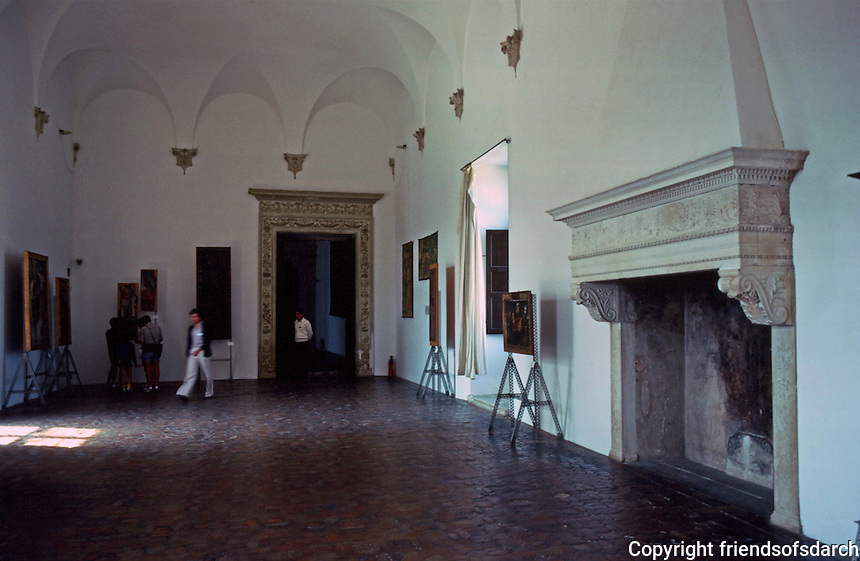 """Urbino:  Ducal Palace--The """"Night Watch Room""""  where the Court of Guidobaldo and Elizabeth met, as described by Castiglione.  Photo '83."""