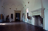 "Urbino:  Ducal Palace--The ""Night Watch Room""  where the Court of Guidobaldo and Elizabeth met, as described by Castiglione.  Photo '83."
