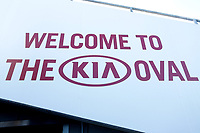 Kia Oval signage ahead of Surrey CCC vs Essex CCC, Specsavers County Championship Division 1 Cricket at the Kia Oval on 11th April 2019