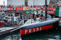 Luna Rossa Prada Pirelli are farewelled prior to Race 10. Day 7 of the America's Cup presented by Prada. Auckland, New Zealand, Wednesday the 17th of March 2021. © Copyright photo: Libby Law