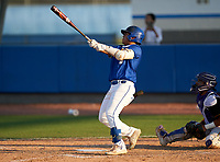 IMG Academy Ascenders James Scott (9) bats during a game against the Montverde Academy Eagles on April 8, 2021 at IMG Academy in Bradenton, Florida.  (Mike Janes/Four Seam Images)