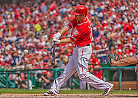 14 April 2013: Washington Nationals first baseman Adam LaRoche in action against the Atlanta Braves at Nationals Park in Washington, DC. The Braves shut out the Nationals 9-0 to sweep their 3-game series. Mandatory Credit: Ed Wolfstein Photo *** RAW (NEF) Image File Available ***
